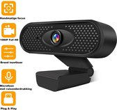 Nince Webcam 1080p - Webcam voor pc - Webcamera - Vergaderen - Werk & Thuis - School - USB - Microfoon - Windows & Mac