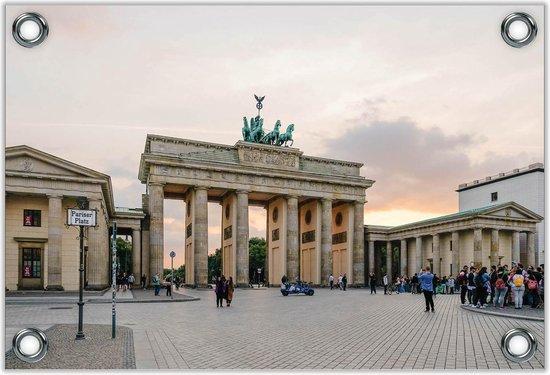 Tuinposter –Brandenburg Gate - Berlijn - Duitsland -60x40  Foto op Tuinposter  (wanddecoratie voor buiten en binnen)