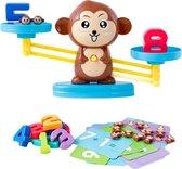 Educatief Speelgoed - Monkey Balance - Educatief Speelgoed voor Kinderen Vanaf 3 Jaar - Speelgoed voor jongens en Meisjes - Interactief speelgoed - Leer Wiskunde en Rekenen - Leren Rekenen - Leren Tellen - 64 Stuks