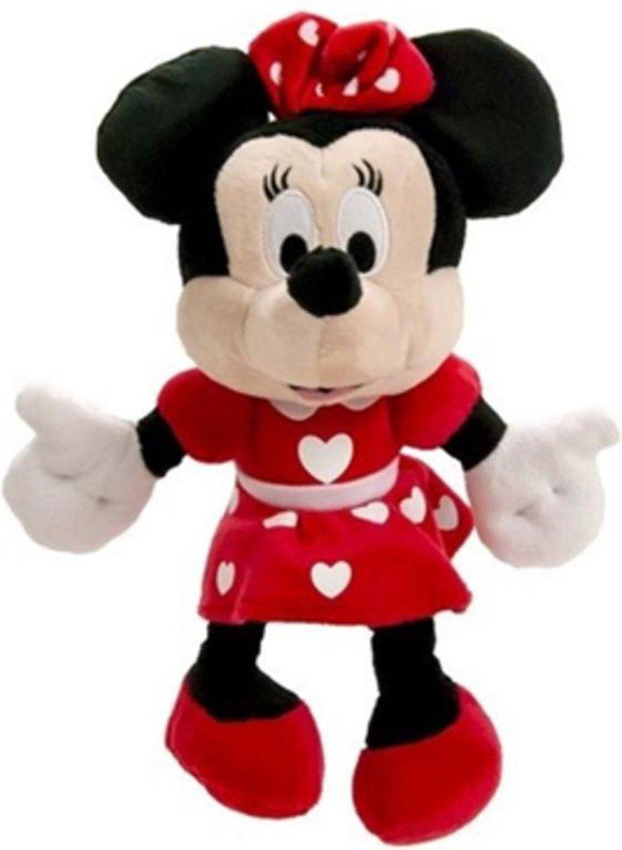 Minnie Mouse Hartjes Disney Pluche knuffel 27 cm