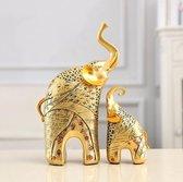 Olifant beeldjes Huis Decoratie - Decoratie Woonkamer - Decoratie - Goud