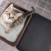 Tastelio XXL Kattenbakmat 75x55cm - groot Kattenbak mat met innovatieve honingraatstructuur - Dubbele waterdichte laag - Katten bak mat met eenvoudige reiniging grit opvanger