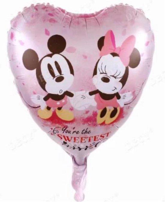 Mickey en Minnie Mouse Ballon - Dinsey Ballon - 45 x 45 cm - Folieballon