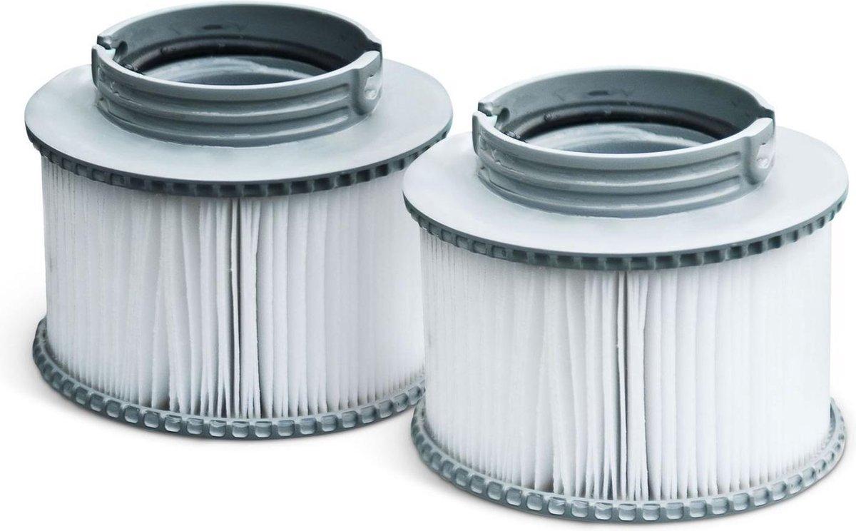 Set van 2 filterpatronen met kliksluiting voor opblaasbare spa MSPA Filter (LITE modellen 2019, Delight modellen 2019/2020/2021)