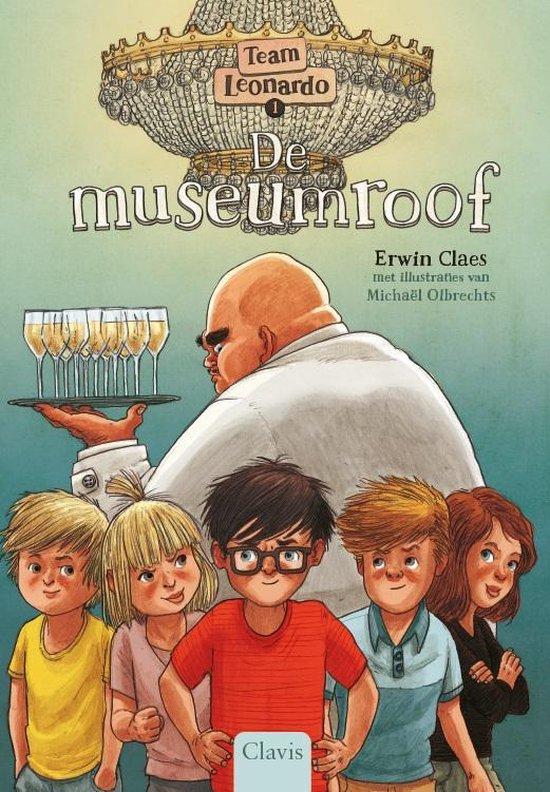 Boek cover Team Leonardo 1 -   De museumroof van Erwin Claes (Hardcover)