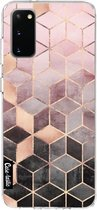 Samsung Galaxy S20 hoesje Soft Pink Gradient Cubes Casetastic Smartphone Hoesje softcover case