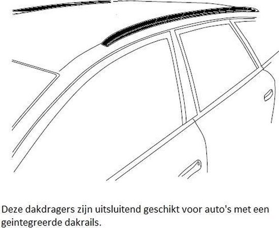 Dakdragers Modula tbv Volvo XC40 5 deurs SUV vanaf 2018 met geintegreerde dakrails