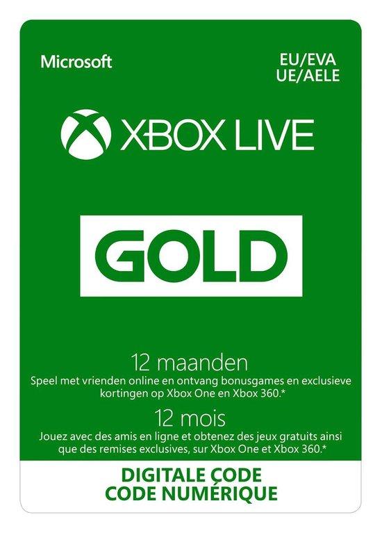 Microsoft Xbox Live Gold - 12 Maanden Abonnement - Xbox 360 + Xbox One