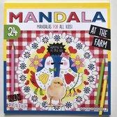 Mandala Kleurboek voor Kinderen At The Farm  inclusief een flamingo sleutelhanger