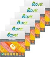 Ecover Vaatwastabletten All In One - Citrus - Voordeelpakket - 6 x 25 Tabletten