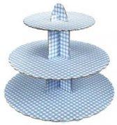 Culpitt 3 laags Cupcake standaard blauw