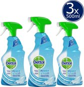 Dettol Allesreinger Spray Power & Fresh Katoenfris - 3 x 500 ml