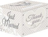 Just Married Enveloppen Gift Box 25x30x30cm