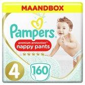 Pampers Premium Protection Pants Luierbroekjes - Maat 4 (9-15 kg) - 160 stuks - Maandbox