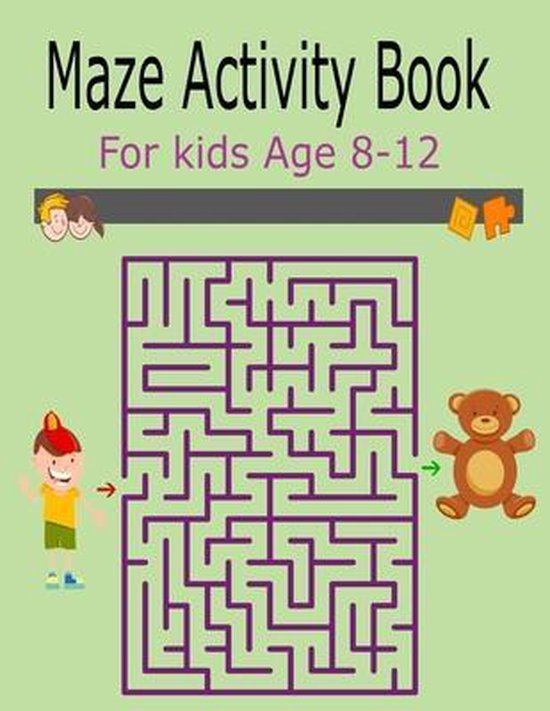 Maze Activity Book For Kids Age 8-12