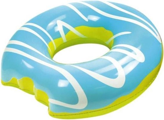 Didak Pool Opblaasbare Mega Blauwe Donut - 119 Cm