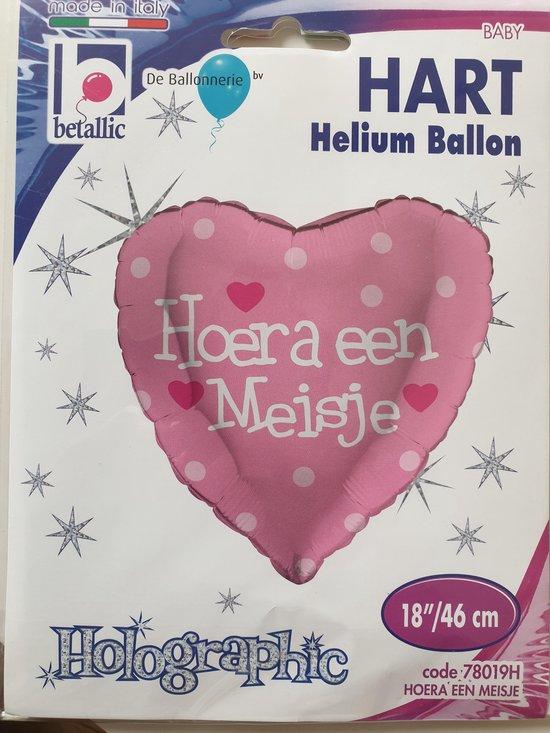 folieballon Hoera een meisje
