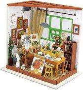 Robotime - DIY Dollhouse Kit-Ada's Studio with LED light - Houten Bouwpakket