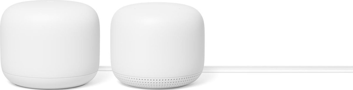 Google Nest WiFi Router en WiFi Punt - Multiroom WiFi Systeem / Wit