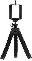 Mini statief - tripod - driepoot - flexibel statief - met houder voor fotocamera - smartphone - iPhone - Zwart - Mangry