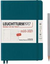 Leuchtturm1917 A5 Medium Weekly Planner & notitieboek 2020/2021 (18 mnds) hardcover Pacific Green
