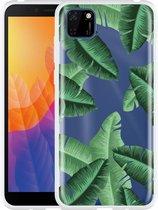 Huawei Y5p Hoesje Palm Leaves