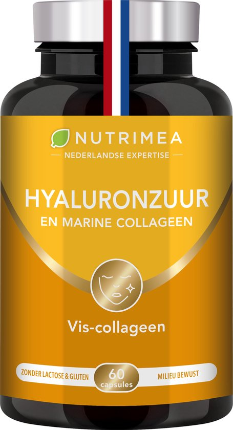 Hyaluronzuur - Collageen -135mg - anti-aging - NUTRIMEA - 60 caps