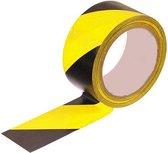 Vloer markeringstape Zwart - Geel- Vloertape- Marking Tape-50 mm breed - 33 meter - Vloer markeringstape voor binnen