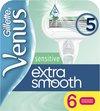 Gillette Venus Sensitive Extra Glad Scheermesjes Vrouwen - 6 stuks