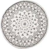 Badmat Berber kantoen antislip rond 65cm