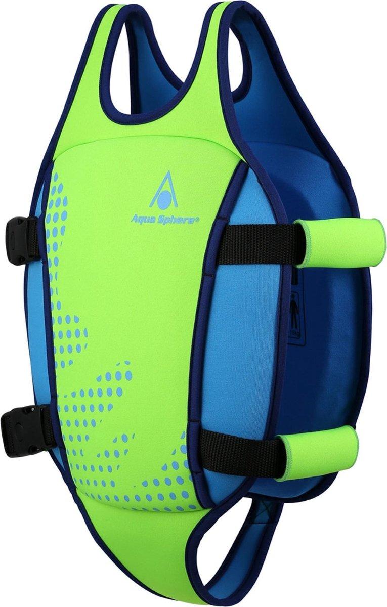 Aqua Sphere Swim Vest - Zwemvest - Kinderen - Groen/Blauw - 2-3Y (15-18kg)