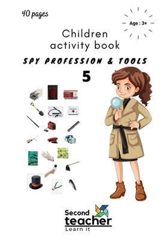 Spy Profession and Tools;children Activity Book-5