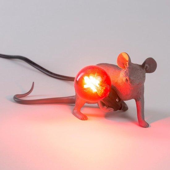 Seletti Mouse lamp - Grijs kruipend