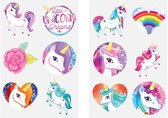 Tattoos kinderen – Eenhoorn Unicorn - Vlinders - Zeemeermin - Tijdelijke tattoo jongens en meisjes - 36 stuks