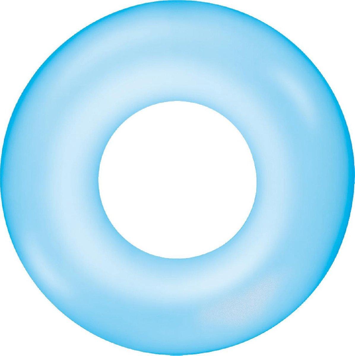 Zwemband Transparant basic 76cm - blauw