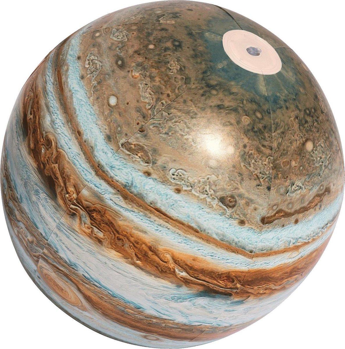 Opblaas bal Jupiter met licht
