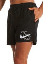 """Nike Volley 5"""" Zwembroek - Maat XL  - Mannen - zwart/ wit"""