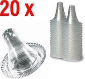 20 stuks beschermkapjes Navulset Voor Braun Thermoscan 3/7 Oorthermometer - Thermometer dopjes - Lens Filters Cover Set