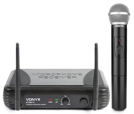 Vonyx STWM711 draadloze microfoon incl ontvanger en batterijen