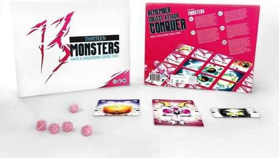 Afbeelding van het spel 13 Monsters | Origineel Gezelschapsspel | Partygame | Actiespel - Nederlands + Engels