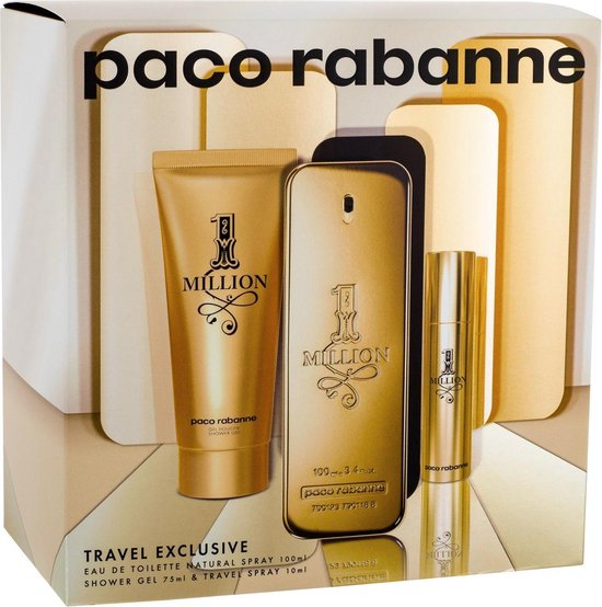 Paco Rabanne One Million Eau de Toilette 100ml + Shower Gel 75ml + EdT Mini 10ml