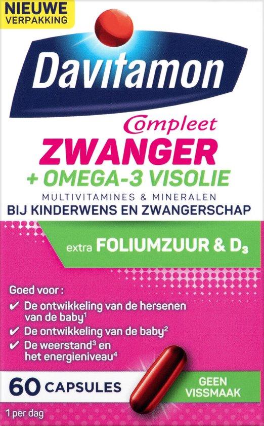 Davitamon Mama Compleet Multivitamine Omega 3 Visolie Zwangerschap - 60 stuks