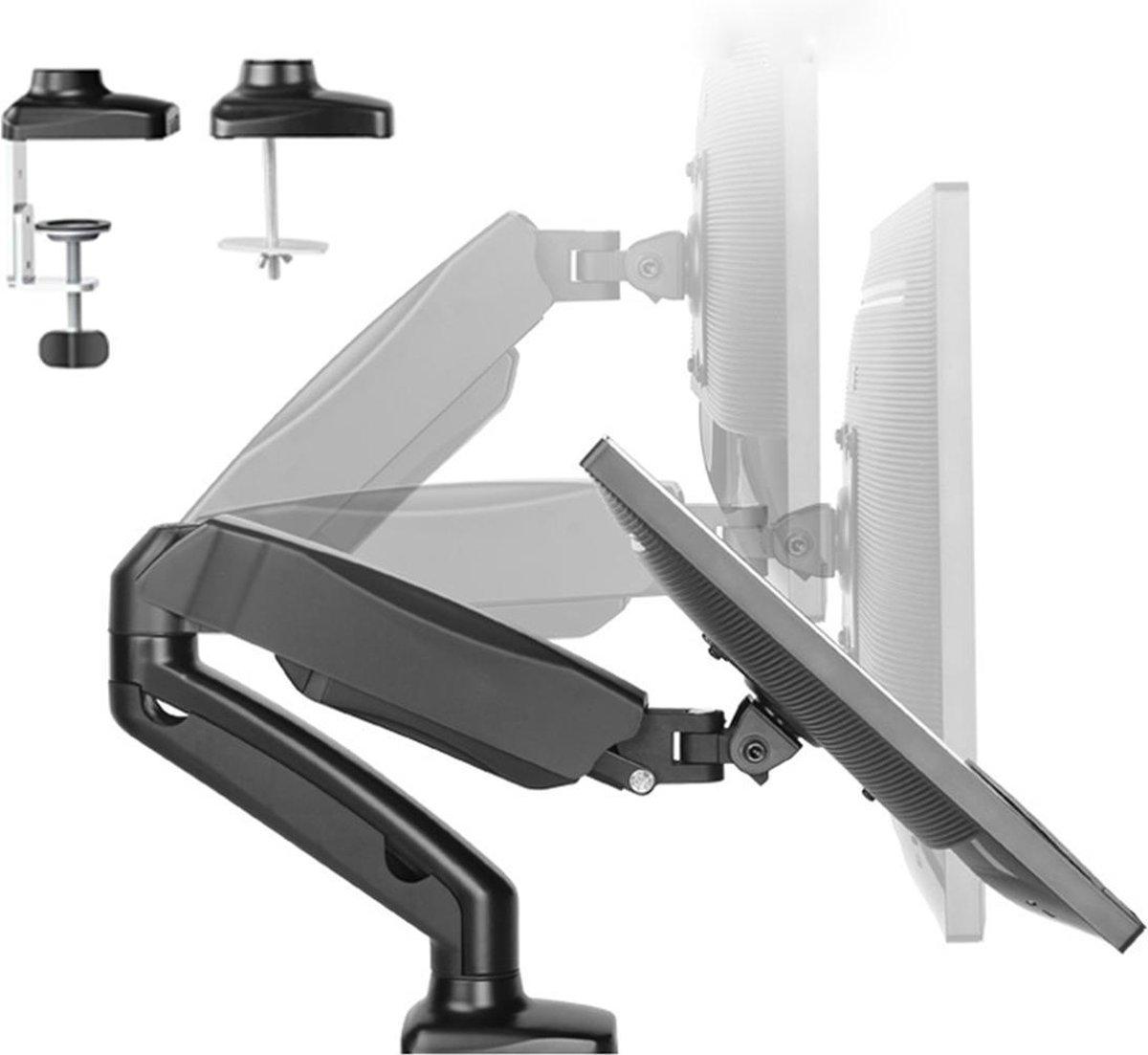 Douxe FM-SPM1 - Gasgedreven Monitorbeugel - Monitor Arm 13-27 Inch - Full Motion voor op Kantoor en Thuis - Zwart kopen