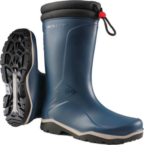 Dunlop Laarzen Rubber Laarzen Heren Gevoerde Laarzen Werk Laarzen Blauw Maat 39