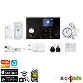 Alarmsysteem, WiFi & met 2/3/4G module, melding via Smart Life app/SMS-bericht/telefoonoproep - Doorsafe 3100