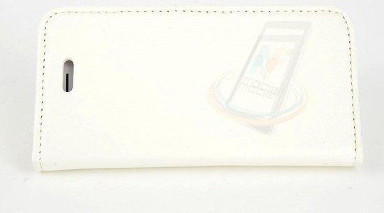 Wit hoesje voor de Apple iPhone 5-5s-SE Book Case - Pasjeshouder - Magneetsluiting