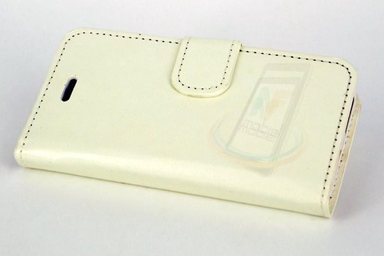 Wit hoesje voor de iPhone 5-5s-SE - Book Case - Pasjeshouder - Magneetsluiting