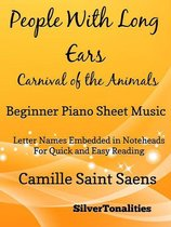 People With Long Ears Carnival of the Animals Beginner Piano Sheet Music