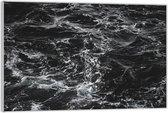 Plexiglas –Zee (zwart/wit)– 150x100 (Wanddecoratie op Plexiglas)