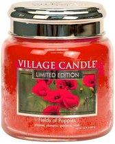 Village Candle Medium Jar Geurkaars - Fields of Poppies